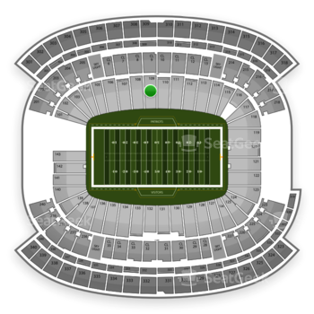 New England Patriots at Gillette Stadium Section 109 View