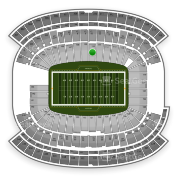 New England Patriots at Gillette Stadium Section 110 View