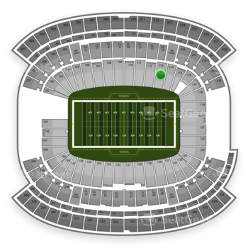 New England Patriots at Gillette Stadium Section 113 View