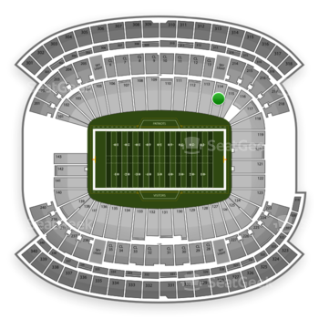 New England Patriots at Gillette Stadium Section 114 View