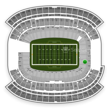 New England Patriots at Gillette Stadium Section 122 View