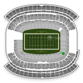 New England Patriots at Gillette Stadium Section 124 View