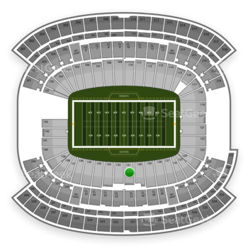 New England Patriots at Gillette Stadium Section 131 View