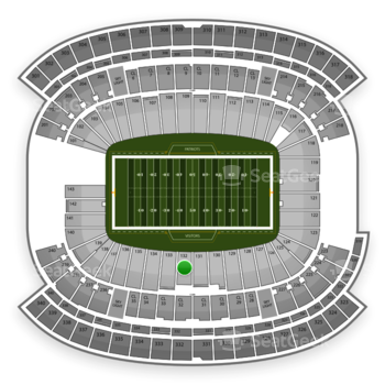 New England Patriots at Gillette Stadium Section 132 View