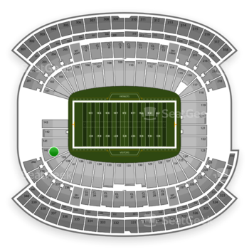 New England Patriots at Gillette Stadium Section 140 View