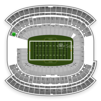 New England Patriots at Gillette Stadium Section 201 View
