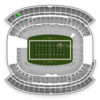 New England Patriots at Gillette Stadium Section 303 View