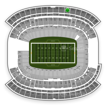 New England Patriots at Gillette Stadium Section 312 View