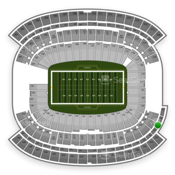 New England Patriots at Gillette Stadium Section 321 View