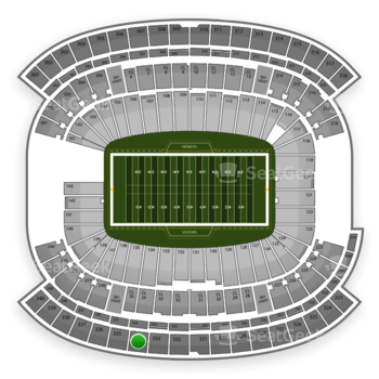 New England Patriots at Gillette Stadium Section 334 View