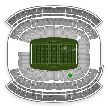 NFL at Gillette Stadium Section 128 View