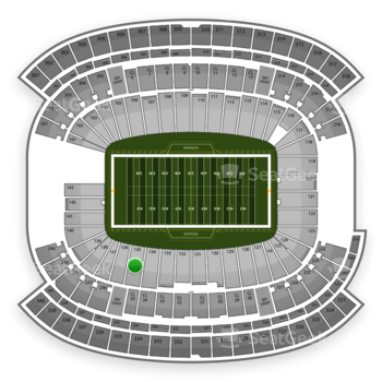 NFL at Gillette Stadium Section 135 View