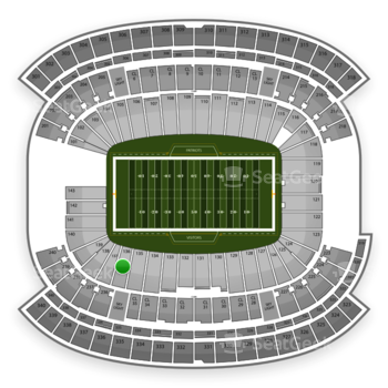 NFL at Gillette Stadium Section 136 View