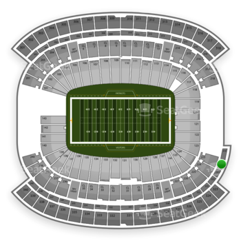 NFL at Gillette Stadium Section 320 View