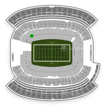 New England Patriots at Gillette Stadium Section 104 View