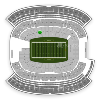 New England Patriots at Gillette Stadium Section 107 View