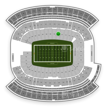New England Patriots at Gillette Stadium Section 111 View