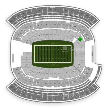 New England Patriots at Gillette Stadium Section 117 View
