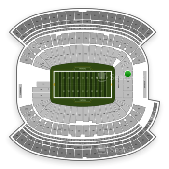 New England Patriots at Gillette Stadium Section 119 View