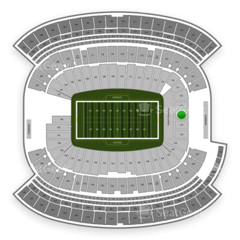 New England Patriots at Gillette Stadium Section 120 View