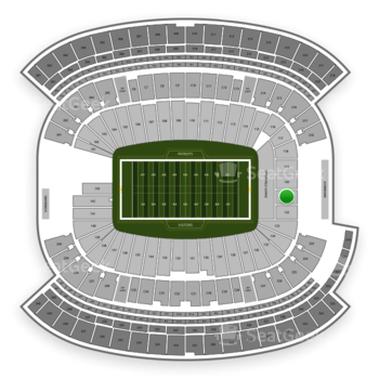 New England Patriots at Gillette Stadium Section 121 View