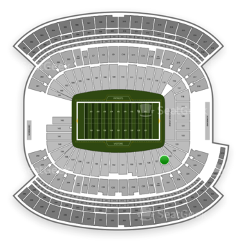 New England Patriots at Gillette Stadium Section 126 View