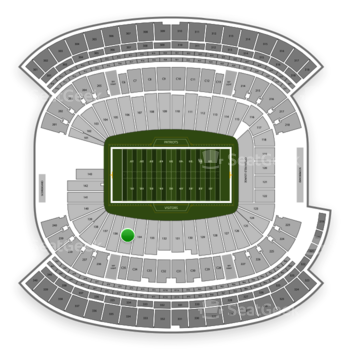 New England Patriots at Gillette Stadium Section 135 View