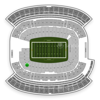 New England Patriots at Gillette Stadium Section 138 View