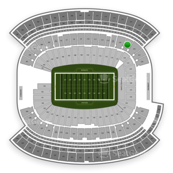 New England Patriots at Gillette Stadium Section 215 View
