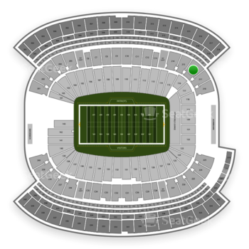 New England Patriots at Gillette Stadium Section 216 View
