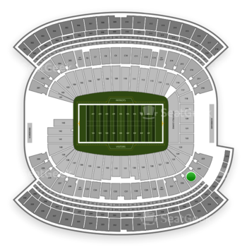 New England Patriots at Gillette Stadium Section 225 View