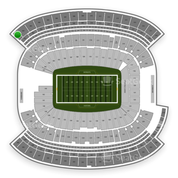 New England Patriots at Gillette Stadium Section 301 View
