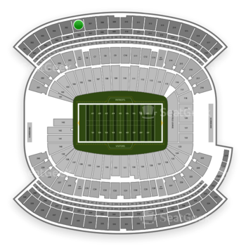 New England Patriots at Gillette Stadium Section 306 View