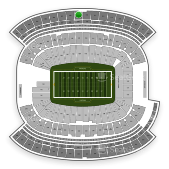 New England Patriots at Gillette Stadium Section 309 View