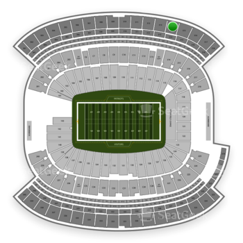 New England Patriots at Gillette Stadium Section 314 View