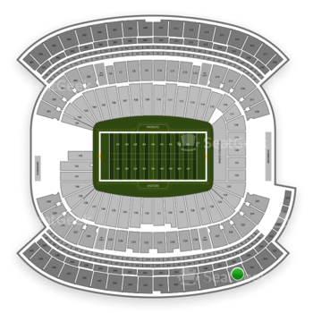 New England Patriots at Gillette Stadium Section 326 View