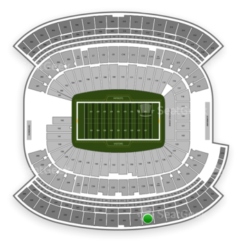 New England Patriots at Gillette Stadium Section 329 View