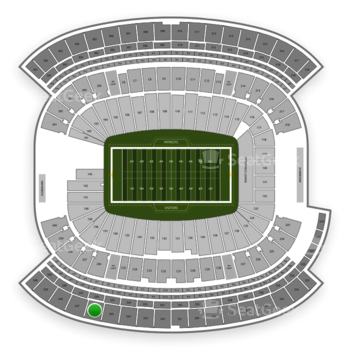 New England Patriots at Gillette Stadium Section 336 View
