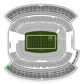 New England Patriots at Gillette Stadium Section 340 View