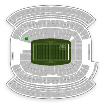 New England Patriots at Gillette Stadium Section 102 View