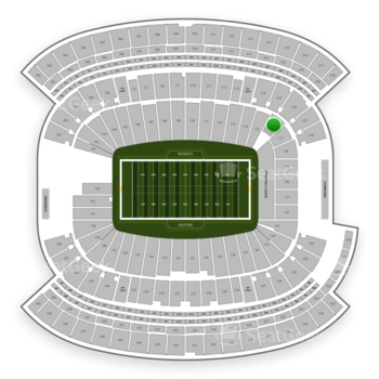 New England Patriots at Gillette Stadium Section 116 View