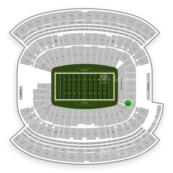 New England Patriots at Gillette Stadium Section 123 View