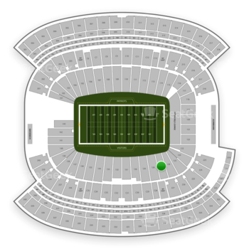 New England Patriots at Gillette Stadium Section 127 View