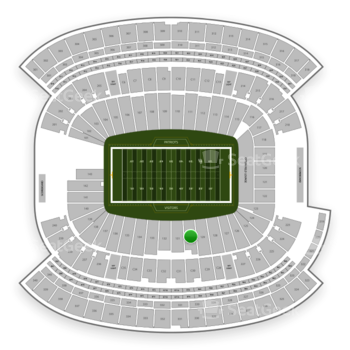 New England Patriots at Gillette Stadium Section 130 View