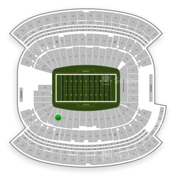 New England Patriots at Gillette Stadium Section 136 View