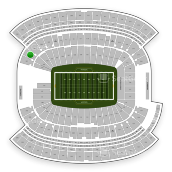 New England Patriots at Gillette Stadium Section 202 View