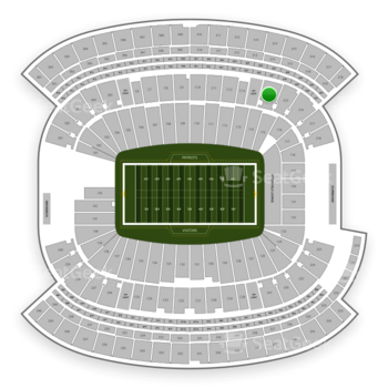 New England Patriots at Gillette Stadium Section 214 View