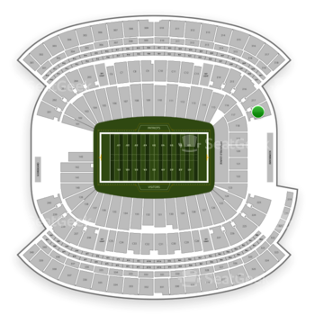 New England Patriots at Gillette Stadium Section 218 View