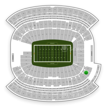 New England Patriots at Gillette Stadium Section 224 View
