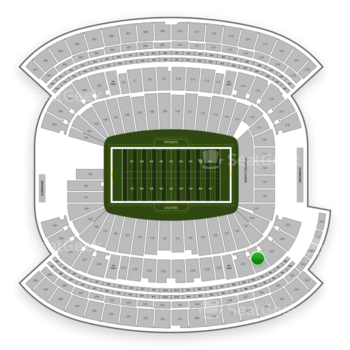 New England Patriots at Gillette Stadium Section 226 View
